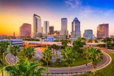 Tampa, Florida Downtown Skyline